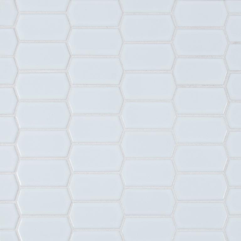 Retro Picket Bianco Mosaic