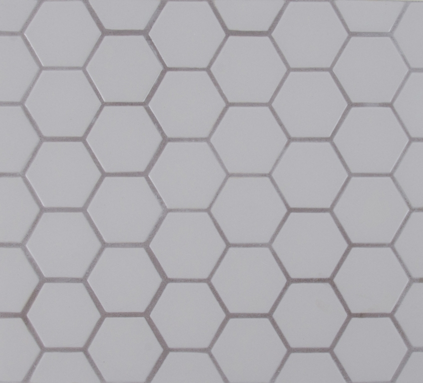 FREE SHIPPING - Retro Grey Hexagon Mosaic