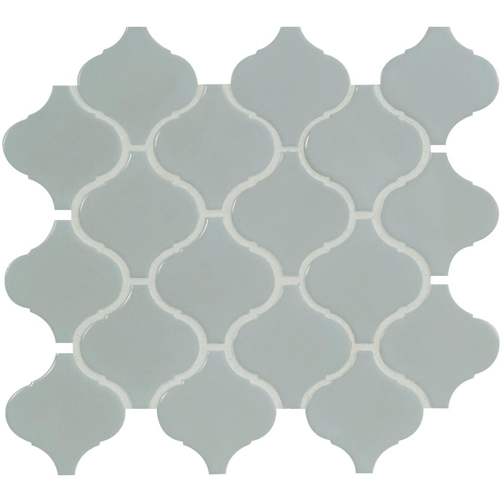 FREE SHIPPING - Domino Retro Gray Glossy Arabesque Mosaic