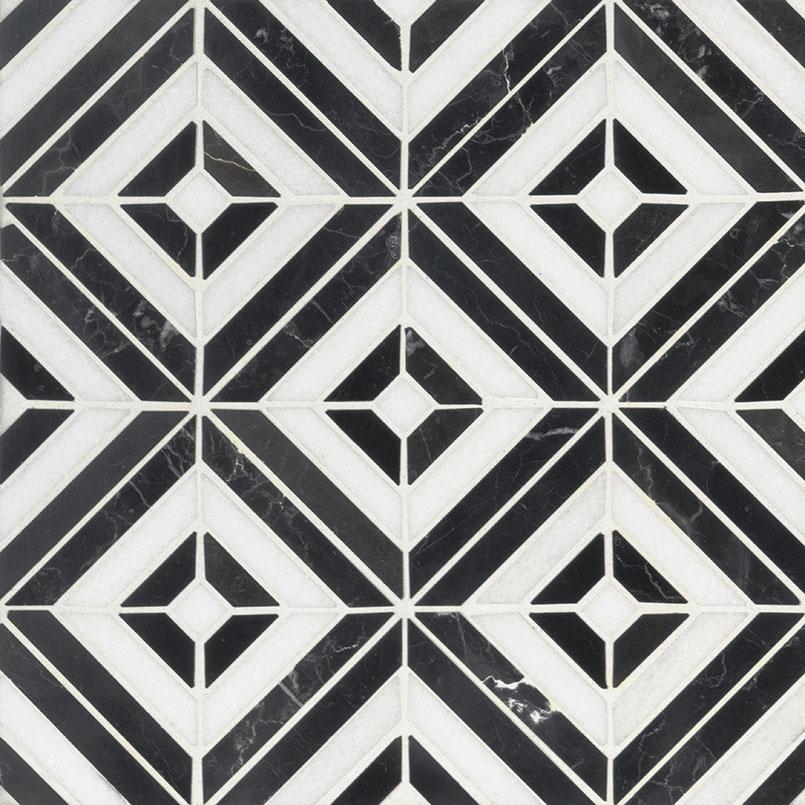 Rhombix Nero Geometric 12x12 Polished
