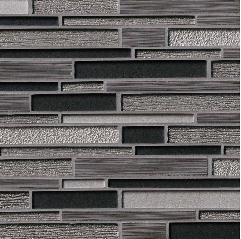Metro Gris Blend Interlocking 8mm Mosaic