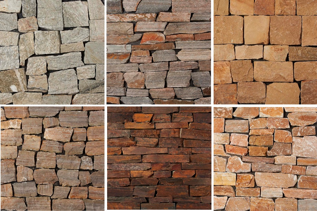 Natural Stone Veneer Products : Buy natural stone thin veneers multi color stacked