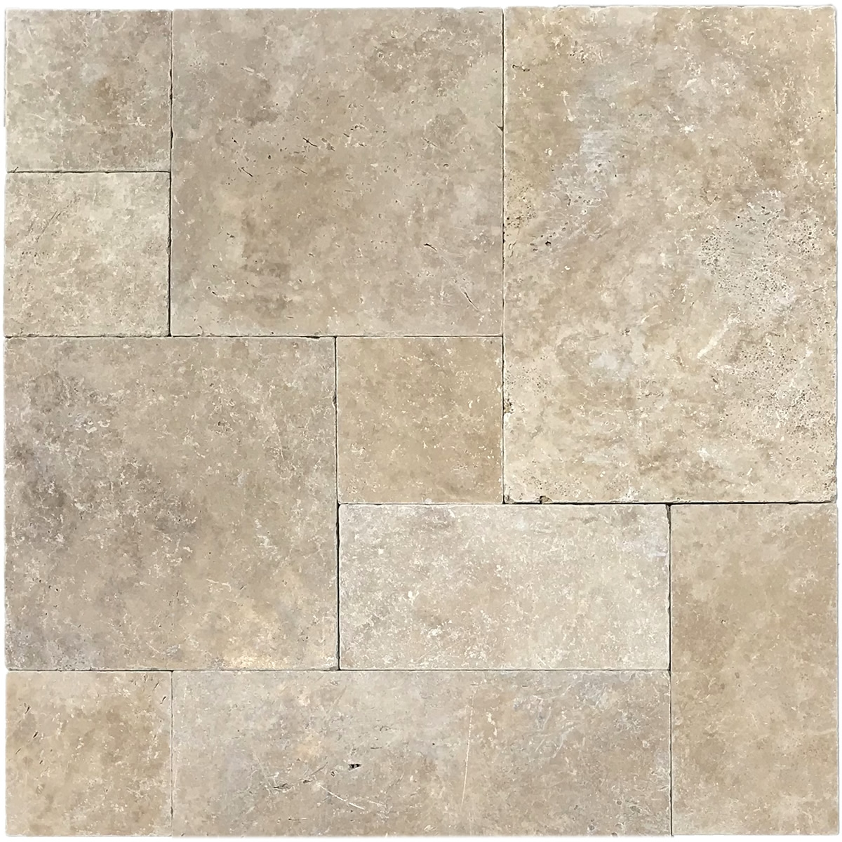 Mocha 3CM Travertine French Pattern Pavers