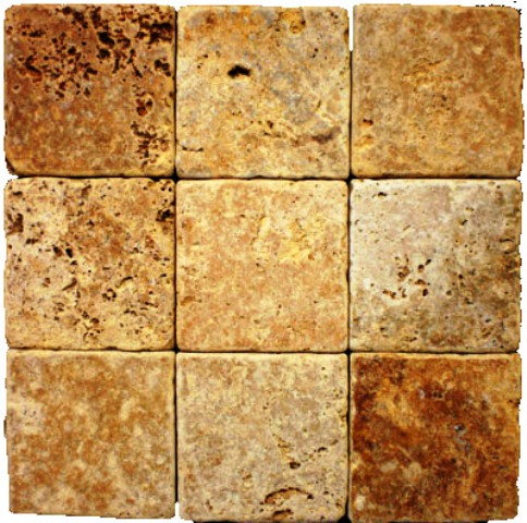 Tuscany Gold 4x4 Subway Tumbled