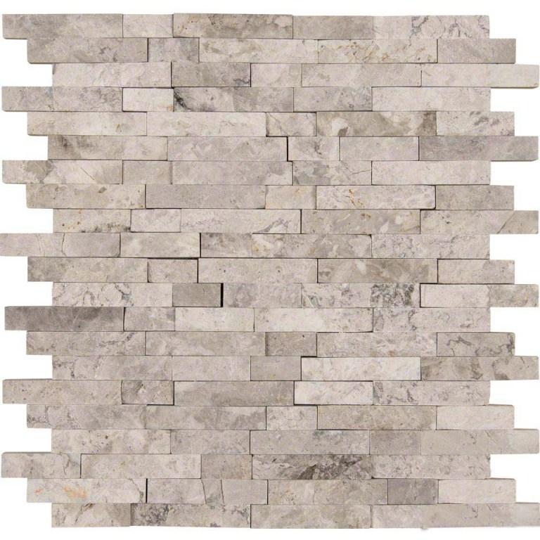Tundra Gray Interlocking Splitface Mosaic
