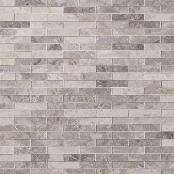 Tundra Gray 1x4 Brick Mosaic