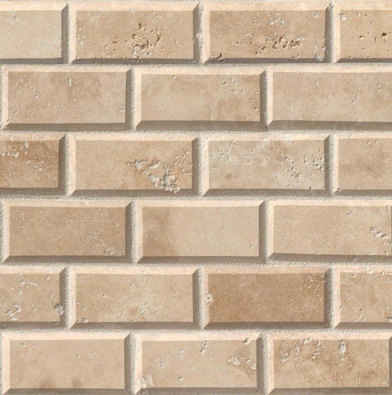 Tuscany Ivory 2x4 Brick Honed/Beveled