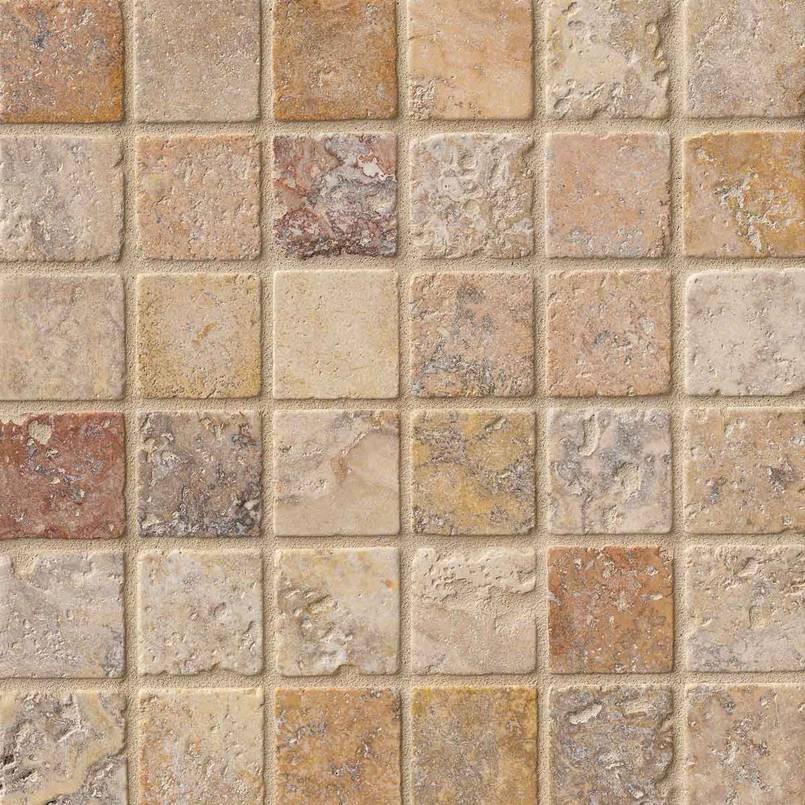 Tuscany Scabas 2x2 Tumbled Mosaic