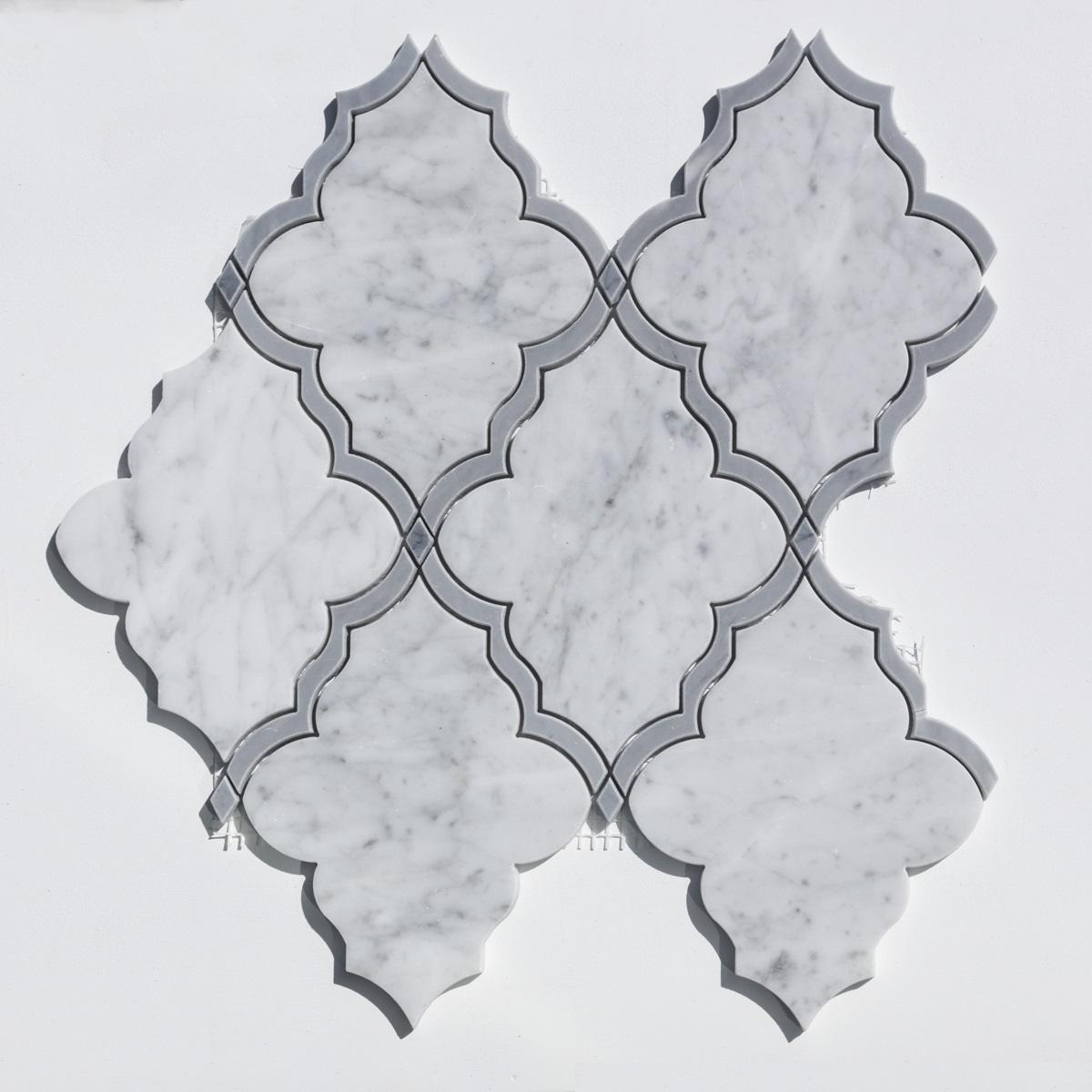 Elongated Venetian Itaaliance Waterjet Pattern Polished