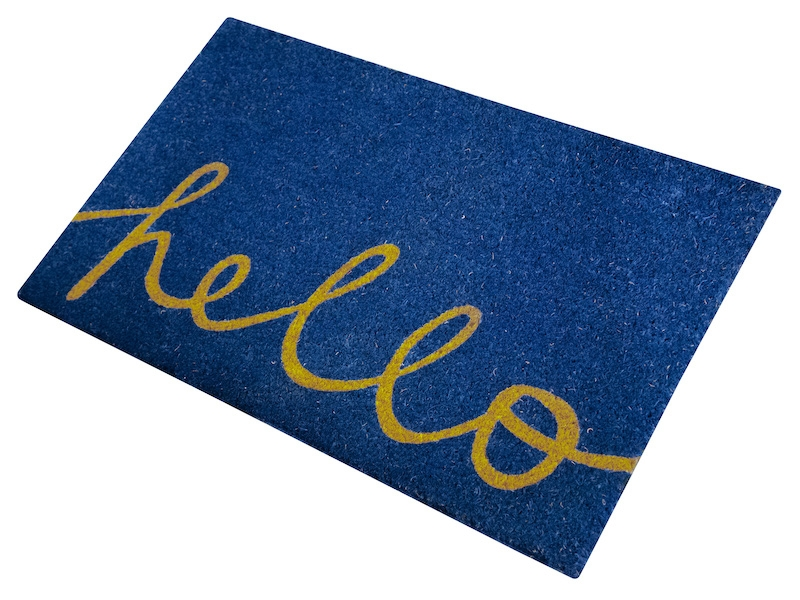 FREE SHIPPING - Coir Door Mat 18X30 - Hello