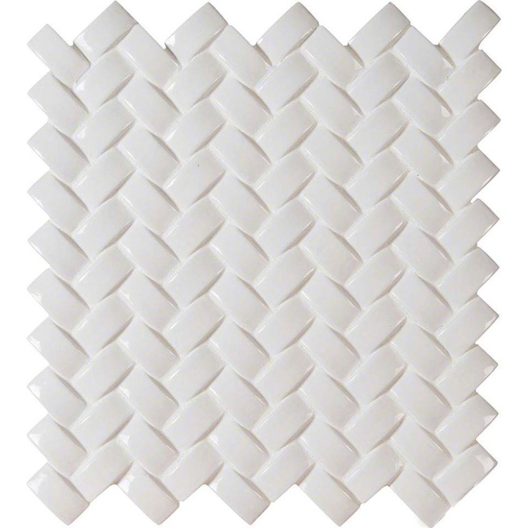 Whisper White Arched 8mm Herringbone