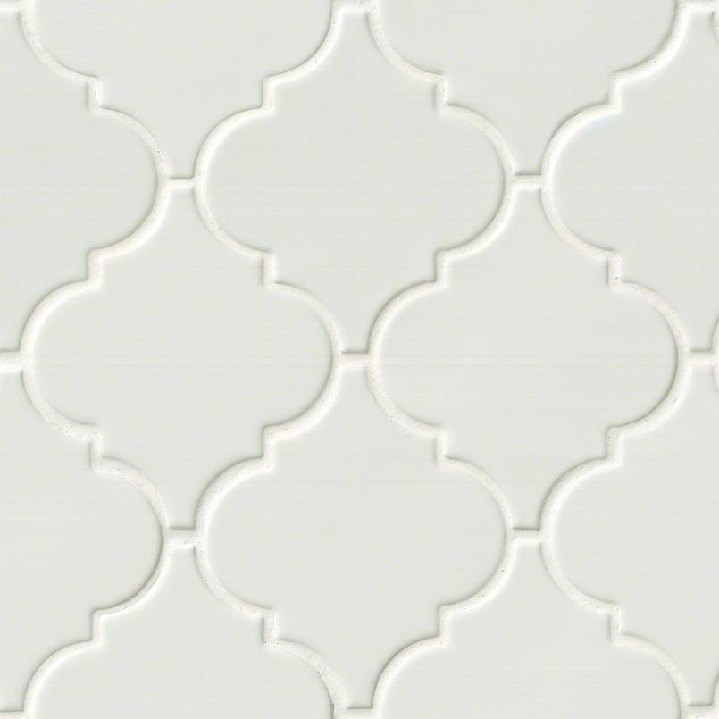 Wall And Tile Whisper White Arabesque 8mm
