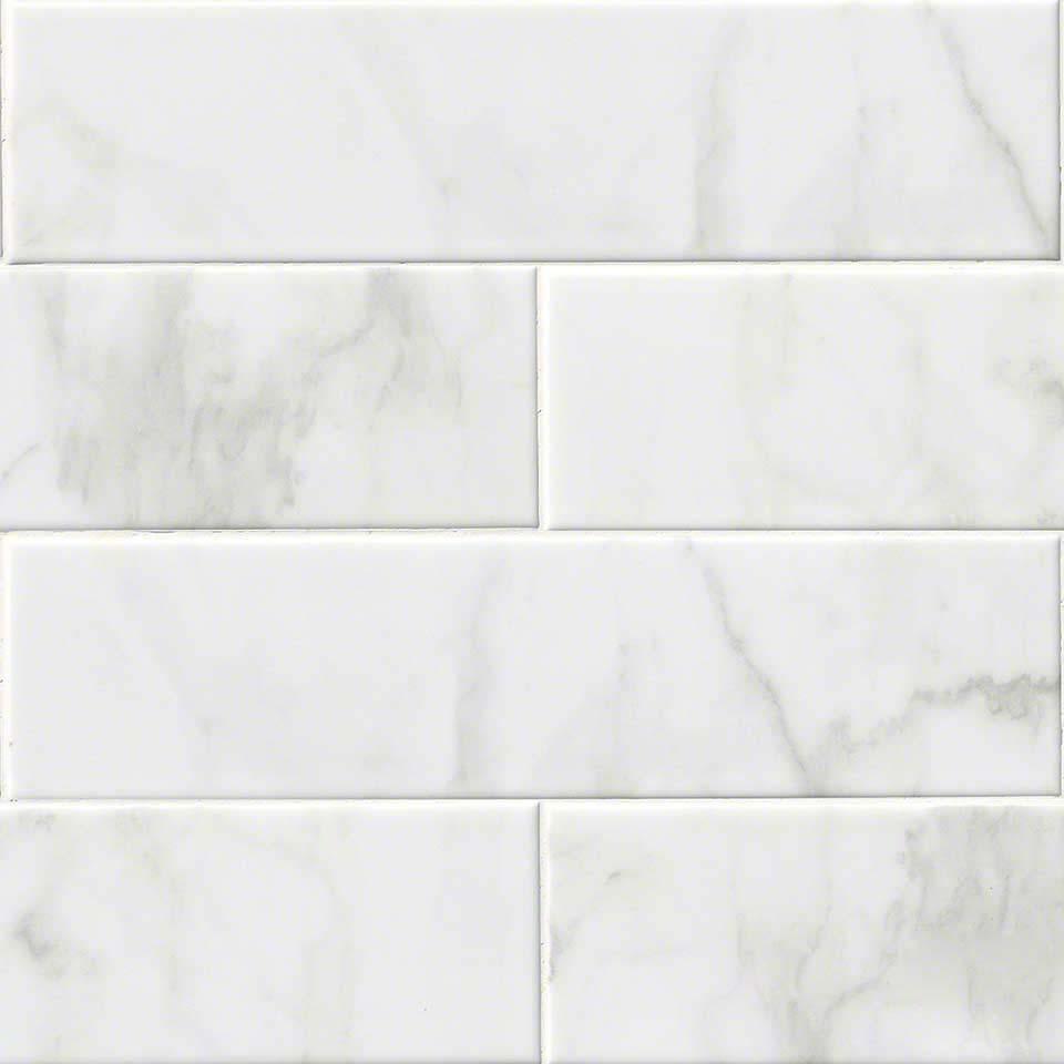 FREE SHIPPING Carrara White 4x16 Glossy Subway