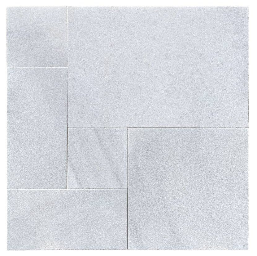 Hydra White Marble French Pattern 3CM Paver