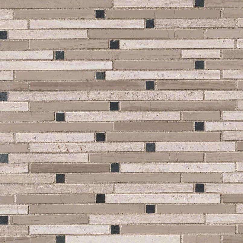 White Oak Blend 12x12 Interlocking Mosaic