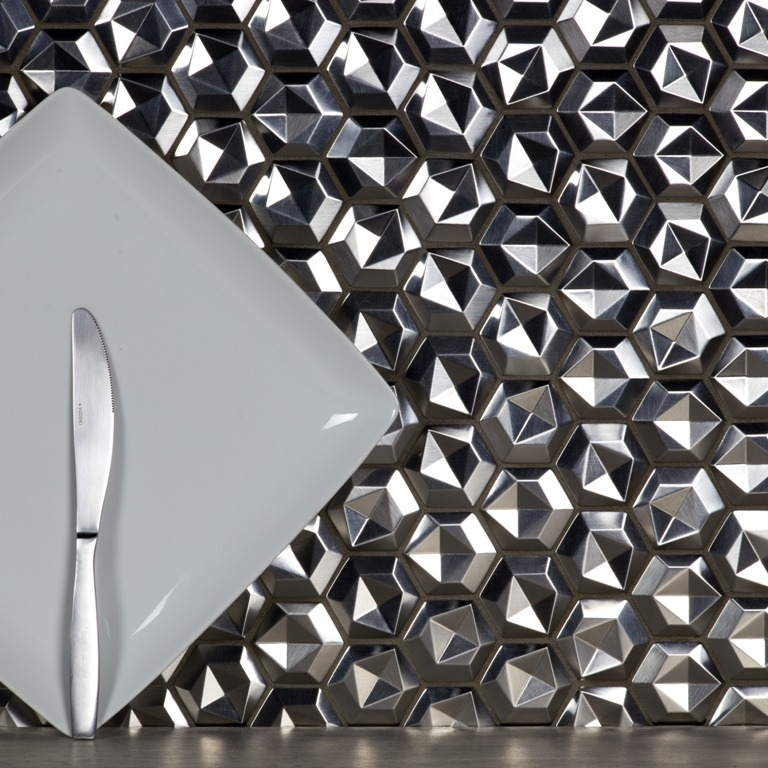 Enchanted Silver Aluminum Metal 3D Pattern