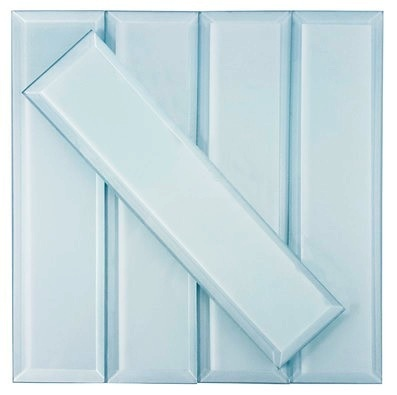 Frosted Elegance 3x12 Catherine Blue Glass Subway