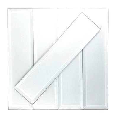 Frosted Elegance 3x12 Isabelle White Glass Subway