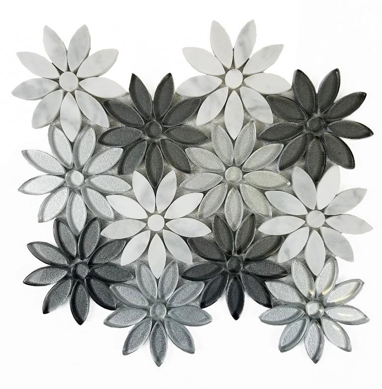 Flower Fusion 12X12 Waterjet Mosaic Blend