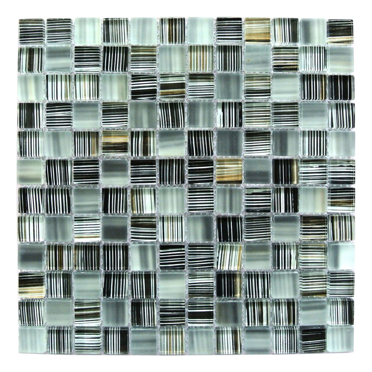 Black Gold 1x1 Glass Mosaic