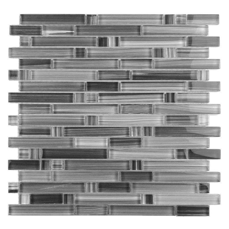 Calligraphy Linear 12x12 Glass Mosaic