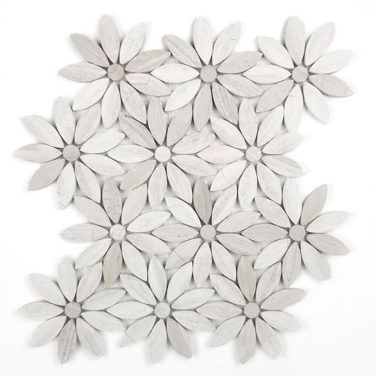 Royal Beige Flower Waterjet Pattern