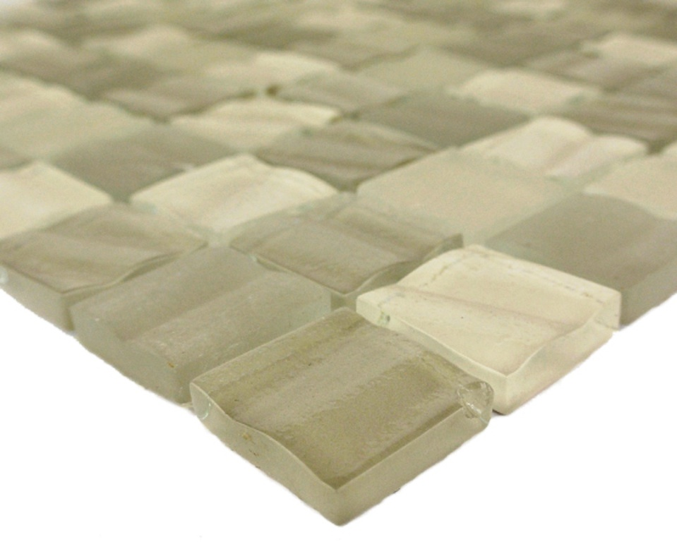 New Era Khaki 12x12 Glass Mosaic