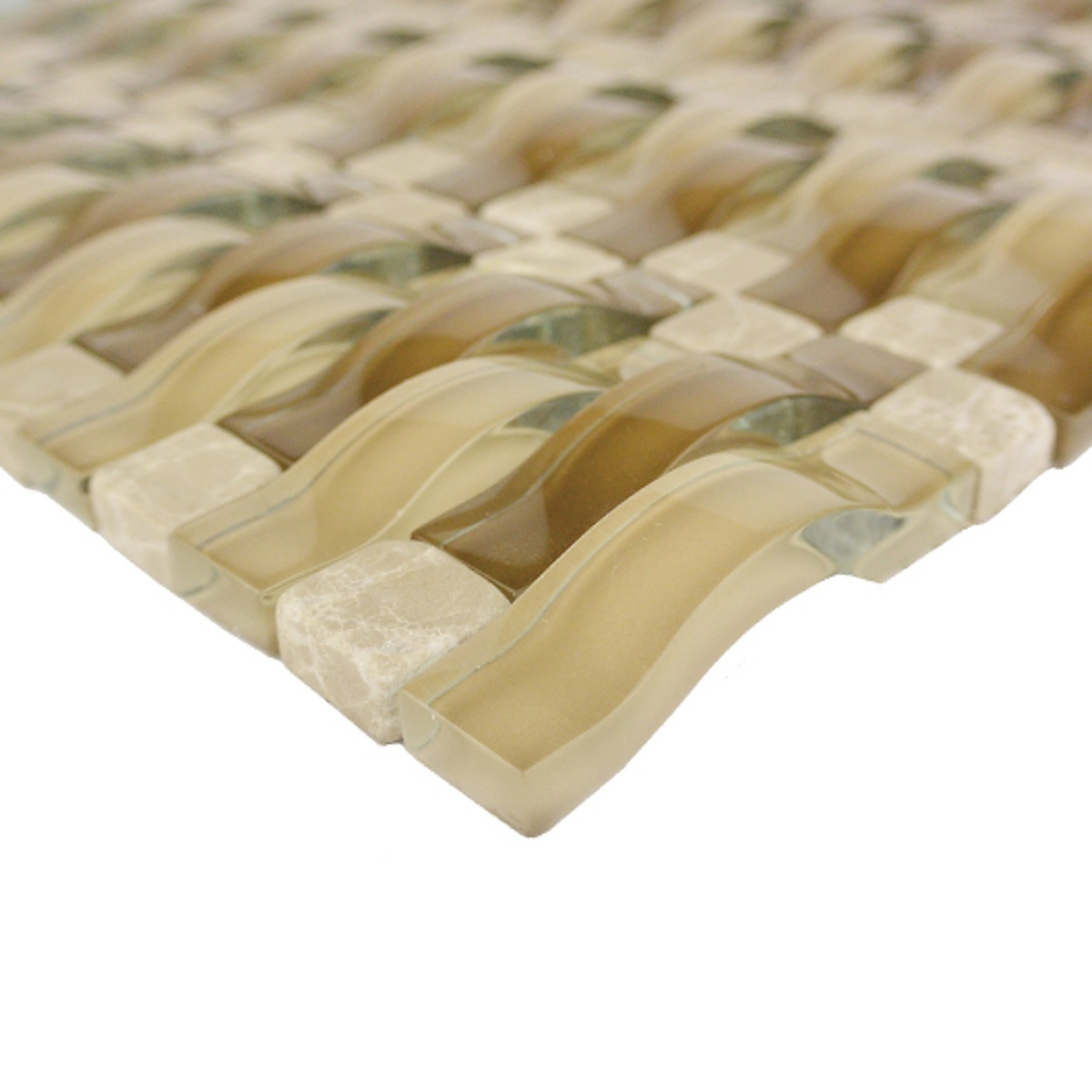 Sabbia Glass/Stone Blend 3D Mosaic