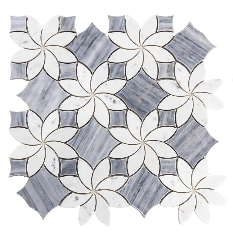 Mutisia Blossom Waterjet Mosaic