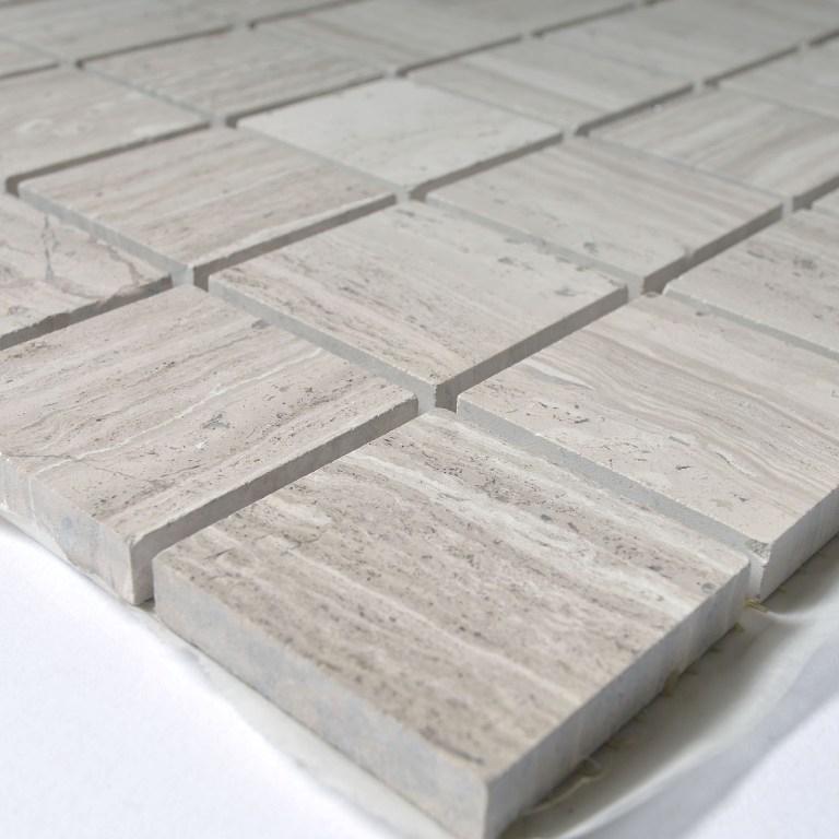 White Oak 2x2 Polished Mosaic