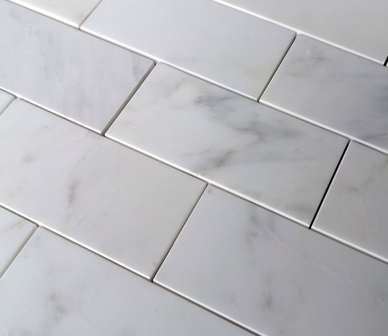 Italian Carrara White 3x6 Subway Tile