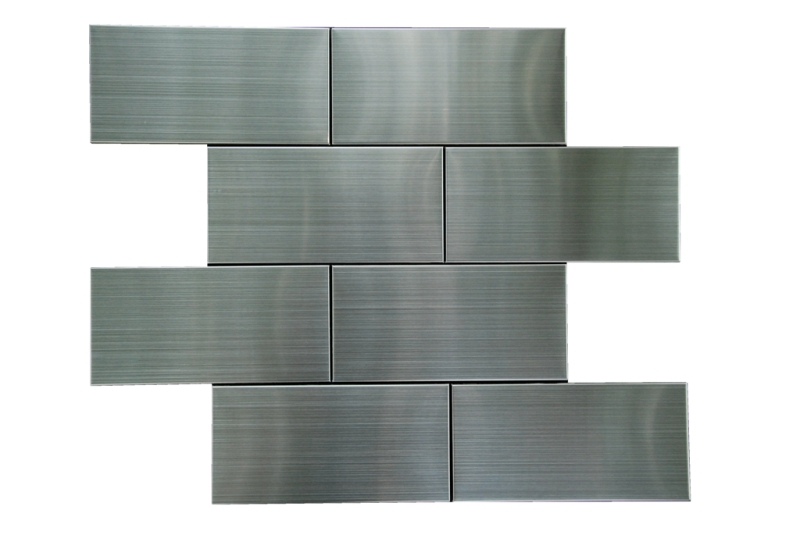 Stainless Steel 3x6 Flat Subway Tile