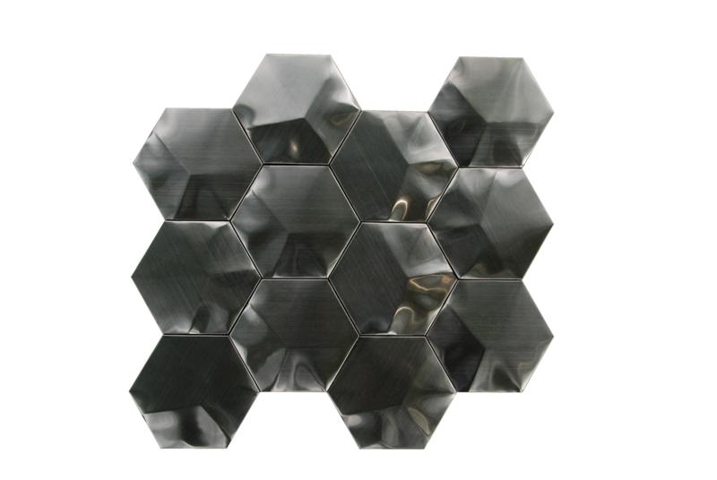 Black Stainless Steel 3D Interlocking 3
