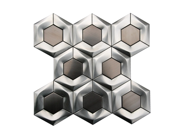 FREE SHIPPING - Stainless Steel 3D Interlocking 4
