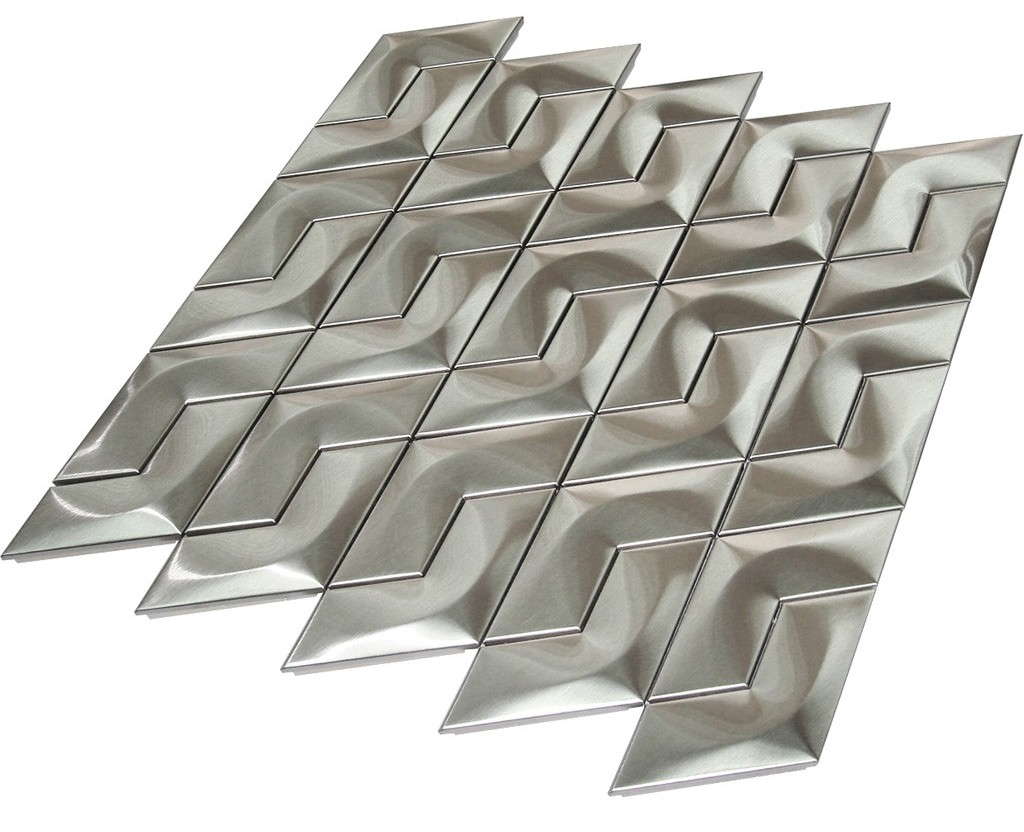Stainless Steel 3D Interlocking Piazza Mosaic