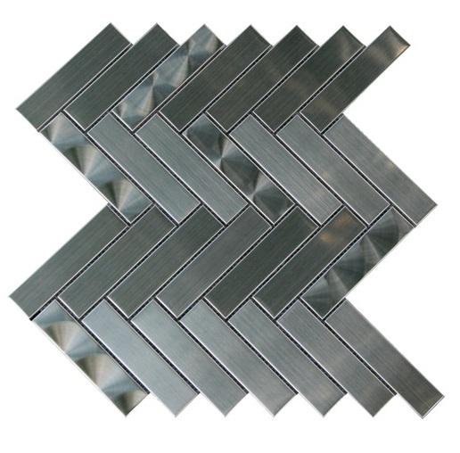 Stainless Steel 3D Chevron Blend