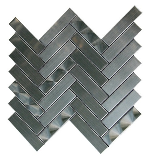 FREE SHIPPING - Stainless Steel 3D Chevron Blend