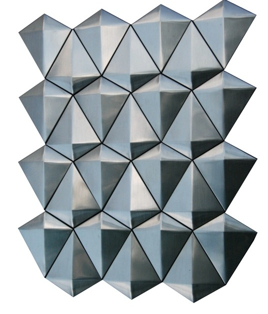 Stainless Steel 3D Diamond Mosaic