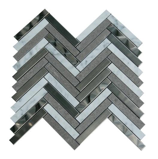 Arrowhead 1x3 Herringbone Mosaic